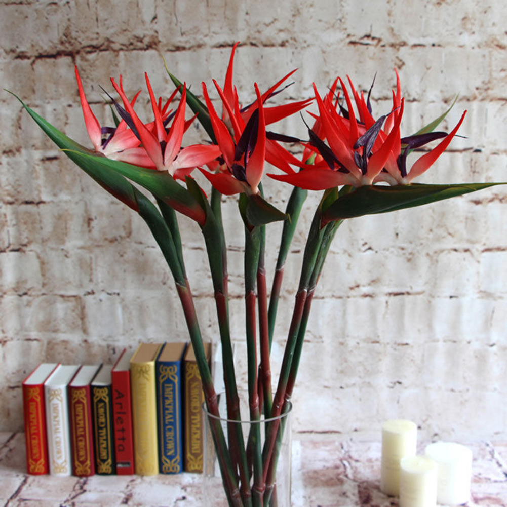 Artificial Flower Bird Of Paradise Fake Plant Silk Strelitzia Living Room Decors