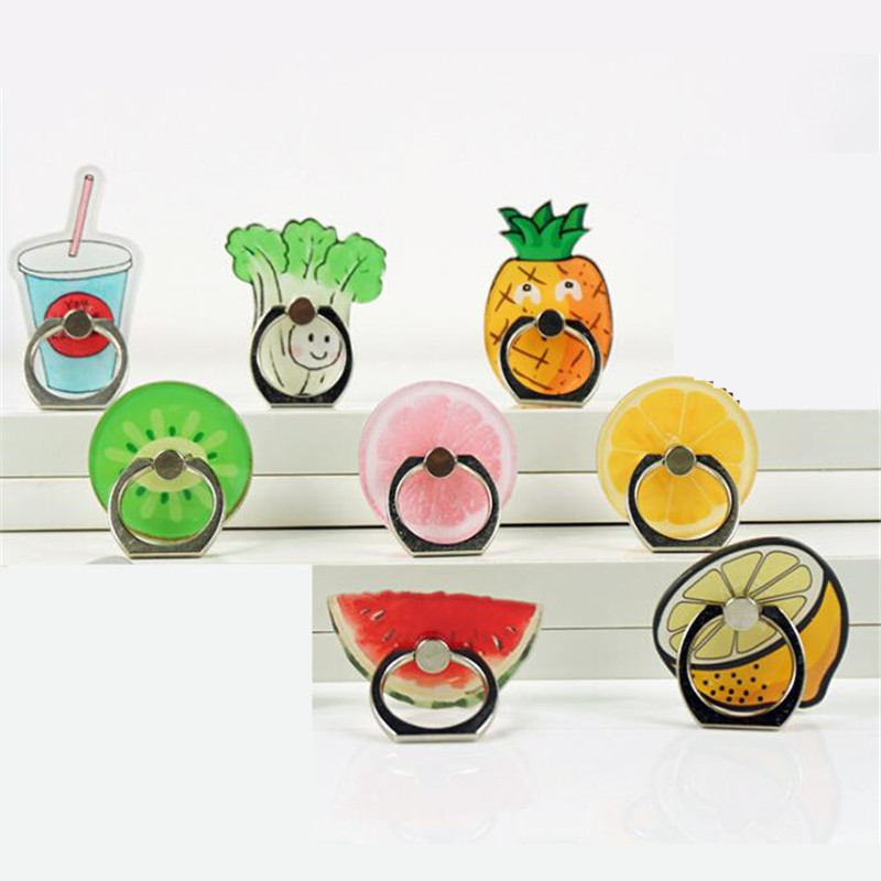 Universal Phone Lemon Ring Fruits Mobile Phone Holder Dessert Phone Holder Ring Holder For Iphone X Huawei Xiaomi All Phone