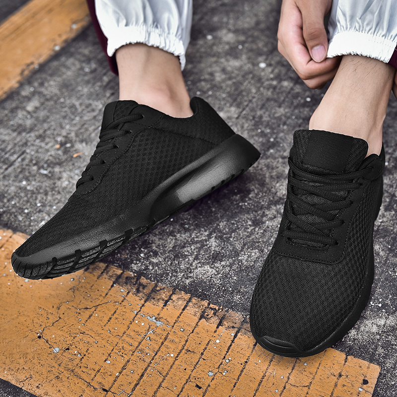 New Men Casual Shoes Lace Up Men's Shoes Lightweight Comfortable Breathable Walking Mesh Sneakers Tenis Feminino Zapatos
