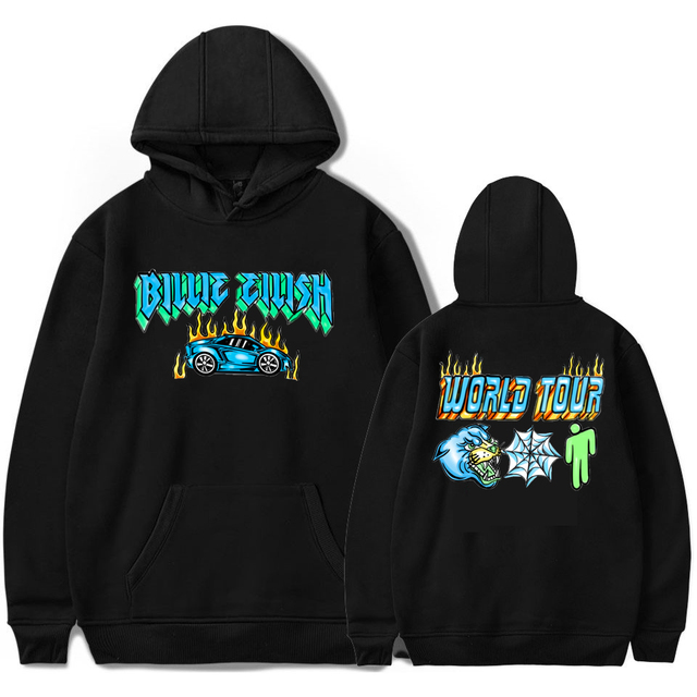 BILLIE EILISH WORLD TOUR THEMED HOODIE