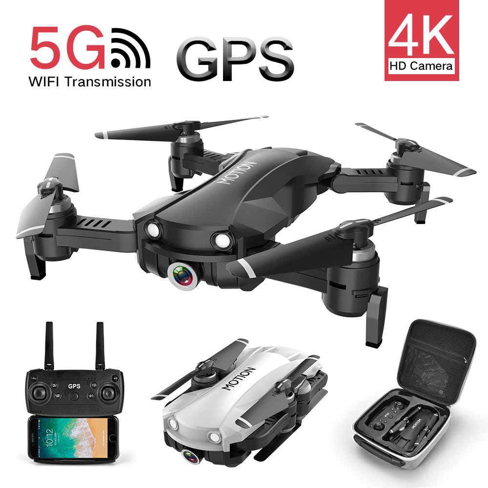 RC Drone Motion R10 GPS Drones with 2K Ultra HD Camera Foldable Quadcopter with 90 Electric Adjustment Camera Helicopter Toys