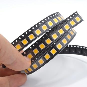 500pcs 5050 Warm white SMD SMT 3-CHIPS Diode LED 3000~3200K PLCC-6 Super Bright lamp light Diodes Led bright beads