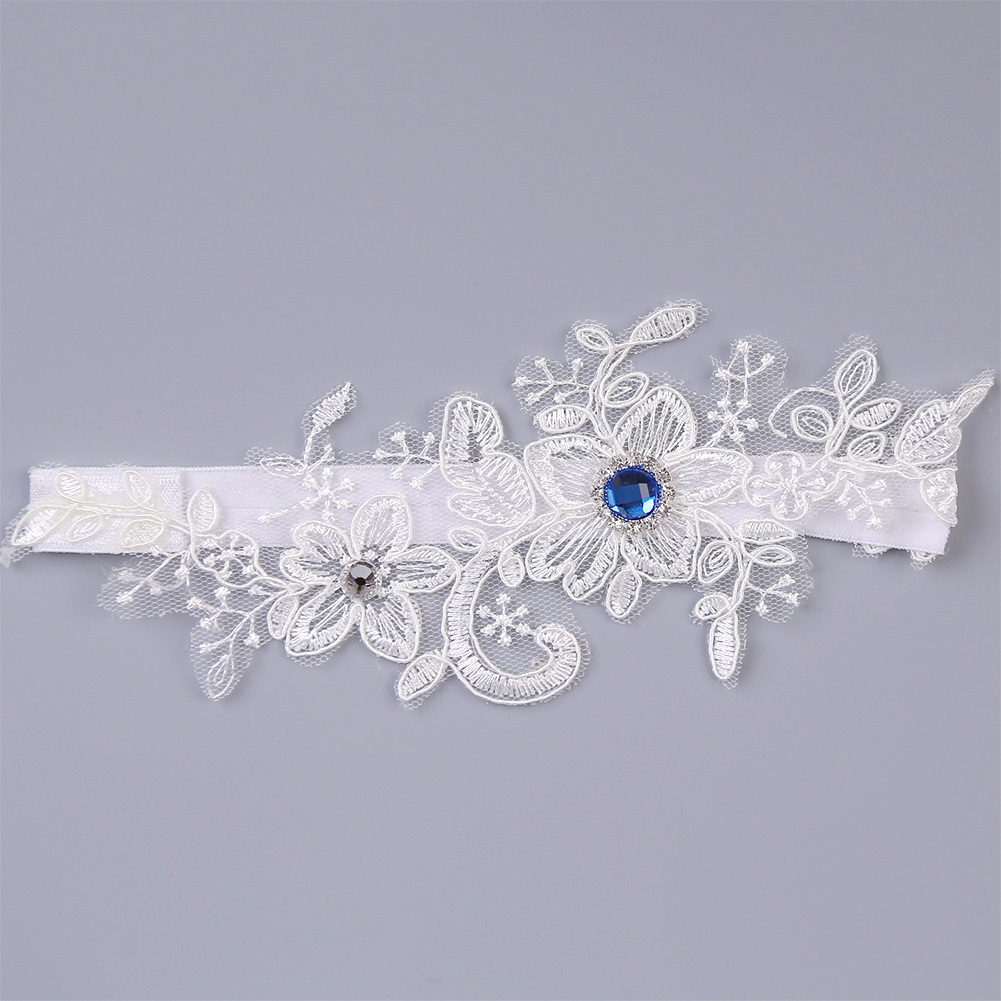 Women Embroidery Wedding Comfortable Cosplay Floral Thigh Ring Exquisite Bridal Party Elastic Fashion Leg Garter Sexy Rhinestone