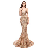 Girls Off Shoulder Nude Black Lace Mermaid Prom Long Gown Evening Dress