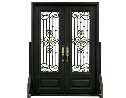 Shanghai Hench Custom Made Hand Forged Wrought Iron Doors For Australia And United States