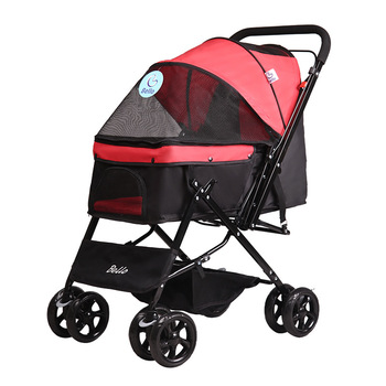 Lightweight folding pet stroller Teddy dog cat stroller four wheel outdoor out pet cage 25KG Dog/Cat/Pet Stroller Travel