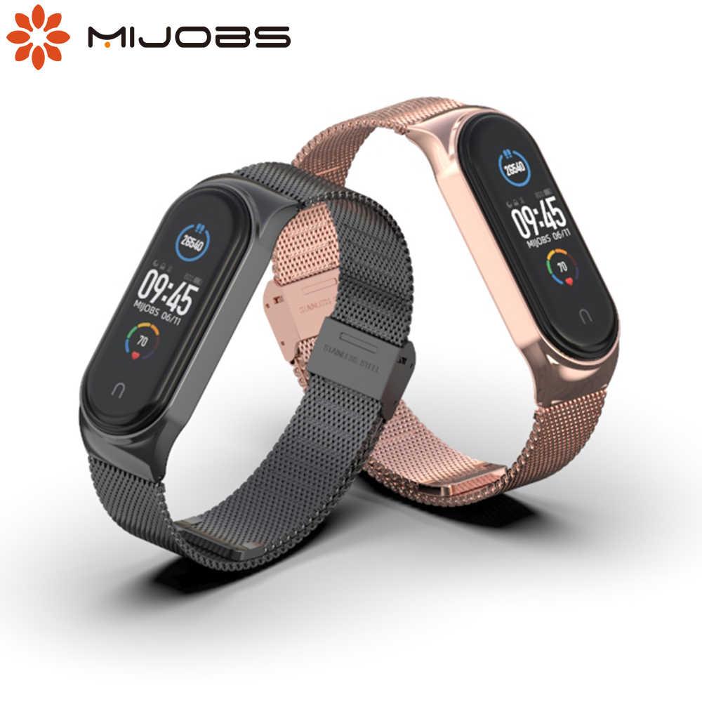 Voor Mi Band 3 4 5 Riem Metalen Correa Armband Voor Miband 5 Opaska Pulseira Polsbandje Voor Xiaomi Xiomi Mijn Bocht 4 Global Versie Smart Accessoires Aliexpress