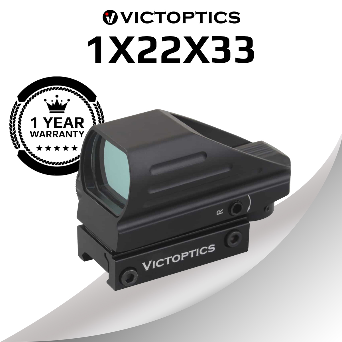 Victoptics 1x22x33 caça red dot sight mira alcance óptico colimador riflescope para armas de fogo reais ar15. 223 & airsoft tiro