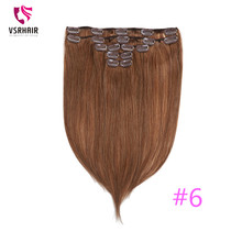 VSR 5pcs/set Machine Remy Human ClIp Extension Hair Extensions Style Clip Human Hair wholesale 1000pcs lot 24mm u shaped tip hair extension clip wigs hair snap metal clip for clip in human hair extensions