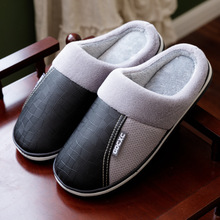 House Slippers Shoes Waterproof Indoor Home Winter Man Plush 48 Thick-Bottom