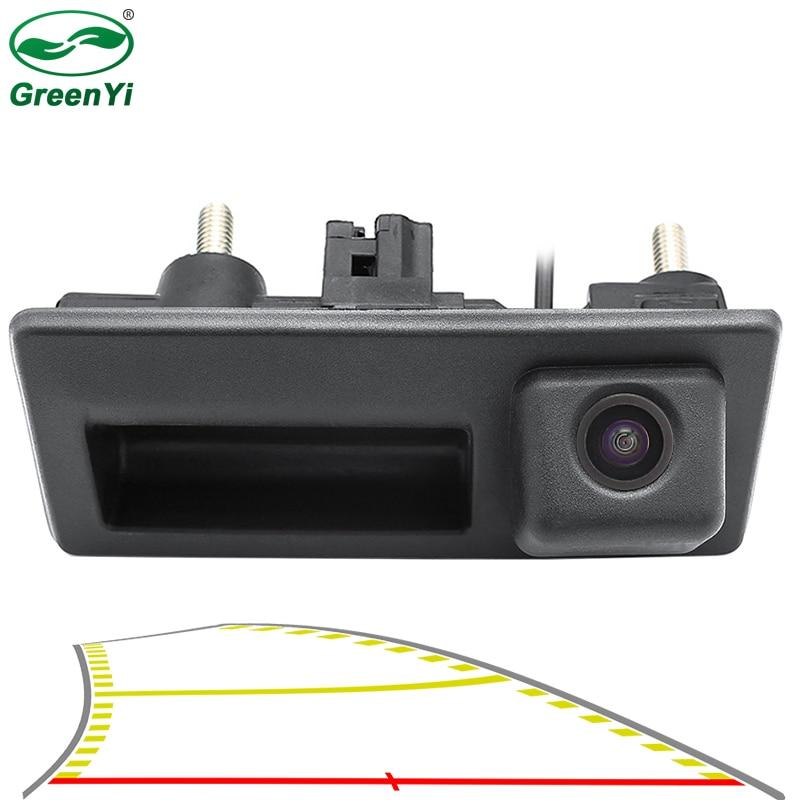 Автомобильная динамическая траектория, парковочная линия, Автомобильная камера заднего хода, ручка багажника для VW Skoda Jetta Polo Passat Golf Audi A3 A4 A6