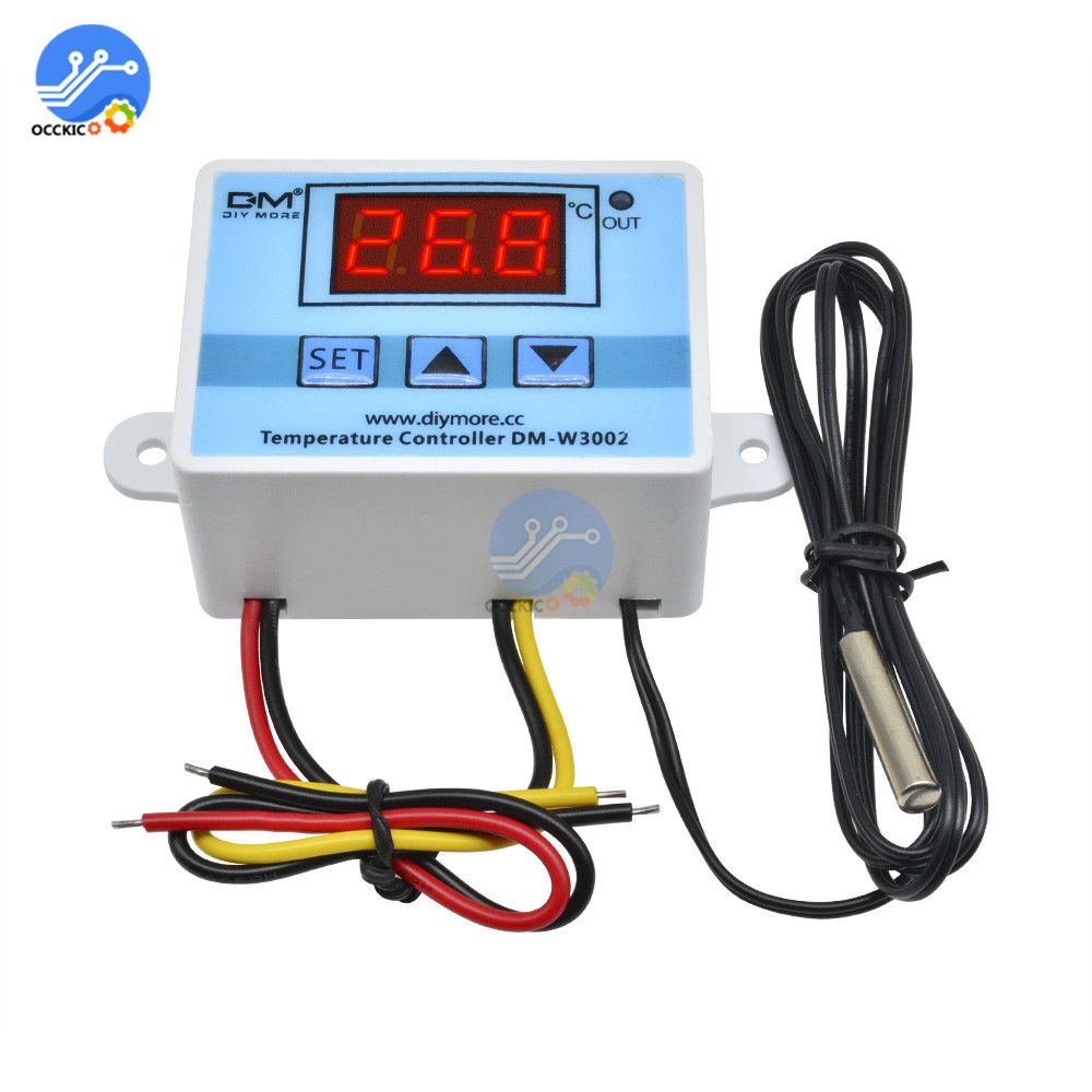 XH-W3002 AC 110V-220V Digital LED Temperature Controller 10A Thermostat Control Switch With Probe Sensor W3002