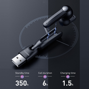Image 4 - Baseus Bluetooth Earphone Magnetic Wireless Charging Bluetooth Headset Single Handsfree With Microphone Car Business USB Hook