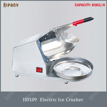 HD109 electric ice crusher 2200RPM semi-automatic shaver 65KG/H block breaker smoothie machine