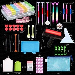 Набор инструментов для алмазной живописи, набор аксессуаров с цифровыми наклейками и алмазной вышивкой, набор инструментов для вышивки кре...