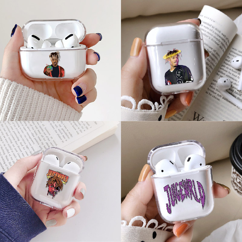 Juice WRLD 999 Earphone Case For Apple iPhone Charging Box For AirPods Pro Hard Clear Cover Protective Accessories