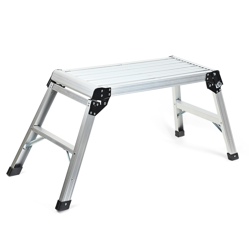 LSX - XCT01 Aluminium Alloy Portable Folding Ladder Platform Heavy Duty Bench Work Stool Home Wide Use Wholesales
