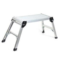 LSX-XCT01 aleación de aluminio plataforma de escalera plegable portátil banco de trabajo de alta resistencia taburete para el hogar gran uso al por mayor