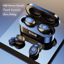 Wireless 5.1 Bluetooth Headphone Touch Control Power Digit-Display Bluetooth Earphones Sport Waterproof Headsets With Microphone