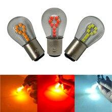 1 pçs 1156 ba15s p21w 1157 bay15d conduziu a lâmpada do carro 12v 3030 smd 18 leds auto cauda luz reversa turn signal luz de freio da lâmpada