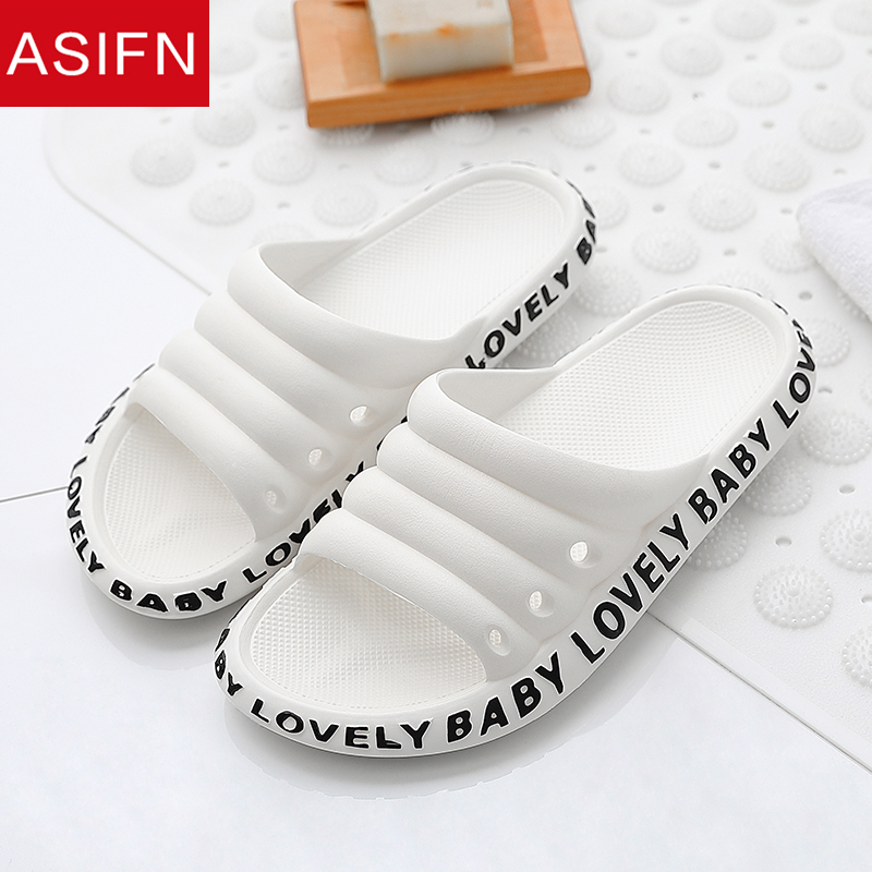 ASIFN Women's Beach Slippers Female Summer Slides Fashion Flip Flop Women Ladies Mules Non-slip Men House Soft Sole New Shoes
