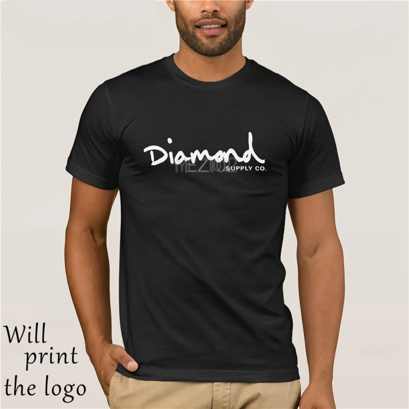 Diamond Supply Co OG Script Premium Cotton T-shirt Black