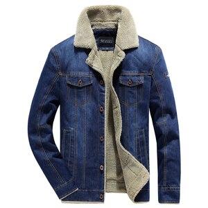 Image 2 - Winter Men Denim Jacket Mens Casual 2020 Man Slim Fit Denim Jackets Coat Outwear Fleece Male Wool Liner Warm Jeans Cowboy Jacket