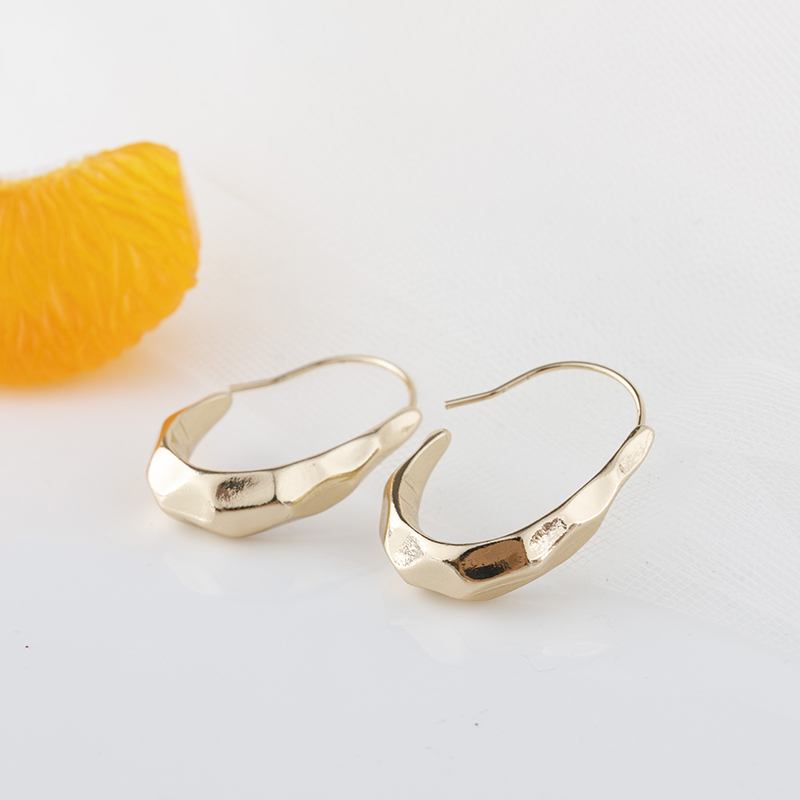 Personality irregular eardrop French big ear ring small wind earrings metal cold wind earrings
