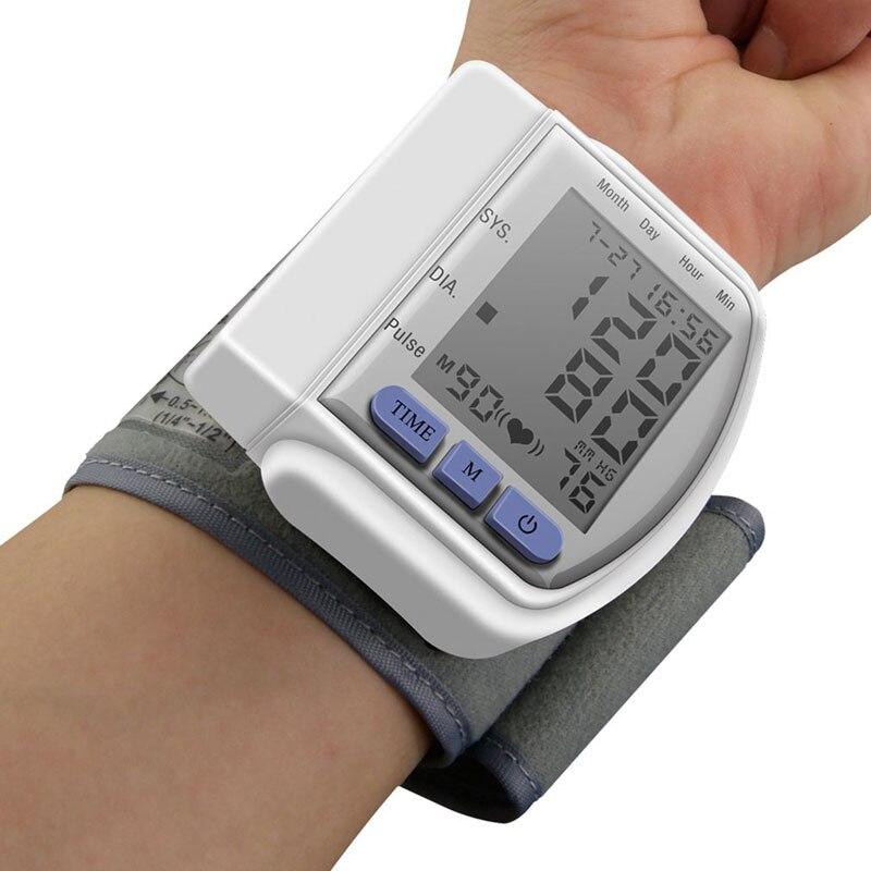 Gesundheit pflege Automatische Handgelenk Blutdruck Monitor Herz Schlagen blut quecksilber glucose Meter maschine automatische blutdruckmessgerät