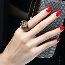 Новые металлические коктейльные кольца уникального дизайна черные