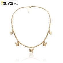 Collar gargantilla de mariposa bonito Youvanic para cadena de oro para mujeres Collar llamativo gargantilla femenina mejores joyas brillantes en Aliexpress