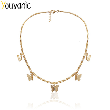 Youvanic Cute Butterfly Choker Necklace For Women Gold Chain Statement Collar Female Chocker Best Shining Jewelry in Aliexpress Accessories Jewellery & Watches Women's Fashion