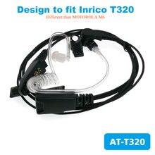 4G 안 드 로이드 휴대 전화 워키 토키 Inrico t320에 대 한 공기 튜브 이어폰 헤드폰