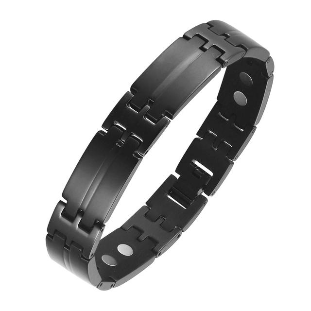 OKtrendy Big Bracelets Stainless Steel Charm Magnetic Bracelet Gold Color Bangle Men Women Jewelry Wrist Gift