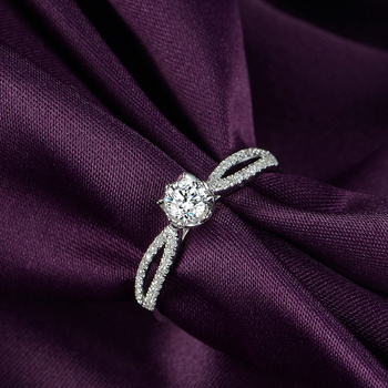 1 Carat 18k Gold And White Gold Diamond Ring Platinum Engagement Ring 3