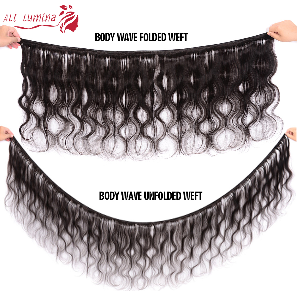 Body Wave Hair Bundles With Lace Closure Natural Color 100%   Bundles  Hair   6