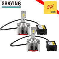 Shaying 2pcs D1S D3S Led Headlight Bulbs D2S D4S Super Bright 5700K 12V Canbus Light Built in Driver for Automobiles