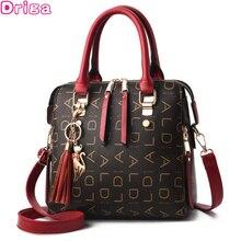 Driga 2020 New Tassel Designers Fashion Women PU Leather Bag Large Capacity Shoulder Bags Casual Tote Simple Top-handle HandBags