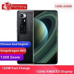 Xiaomi Mi 10 Ultra смартфон с восьмиядерным процессором Snapdragon 256, ОЗУ 12 Гб, ПЗУ 865 ГБ, 48 МП, 120 Гц