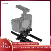 CAMVATE Manfrotto – plaque de Base à dégagement rapide avec double tige de 15mm et plaque coulissante pour caméra DSLR, système de Support de Plate forme de Cage
