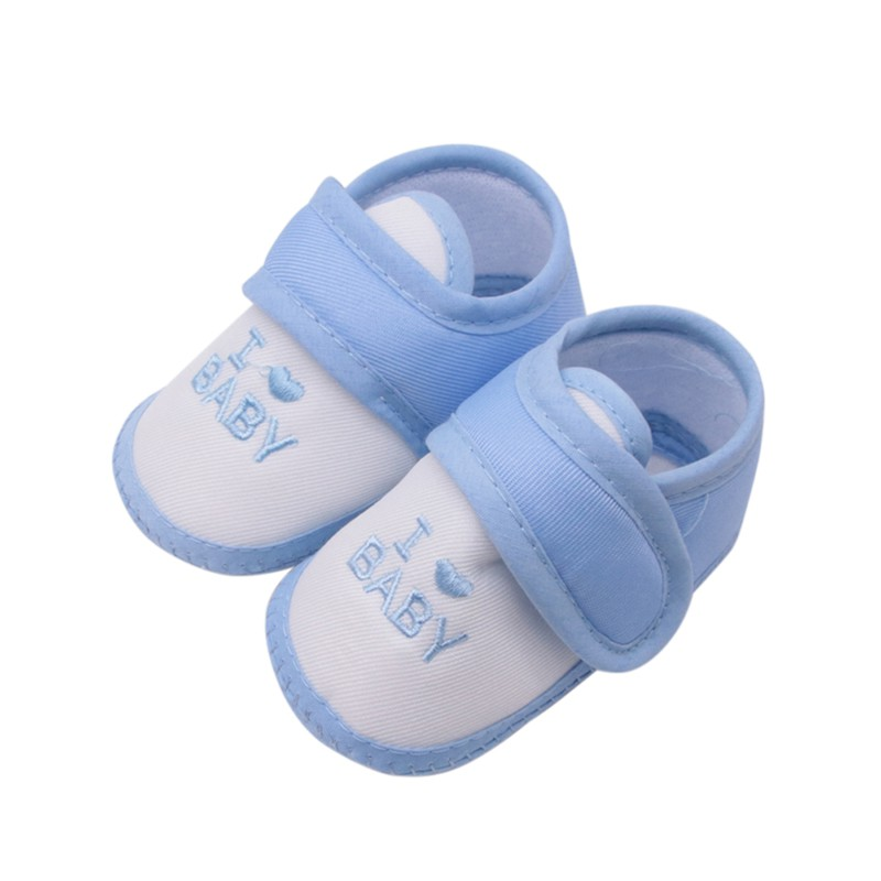 Cotton Baby Shoes I Love Baby Print Newborn Baby Girl Boy Shoes Toddler First Walkers Baby Soft Sole Crib Shoes For 0-18 M
