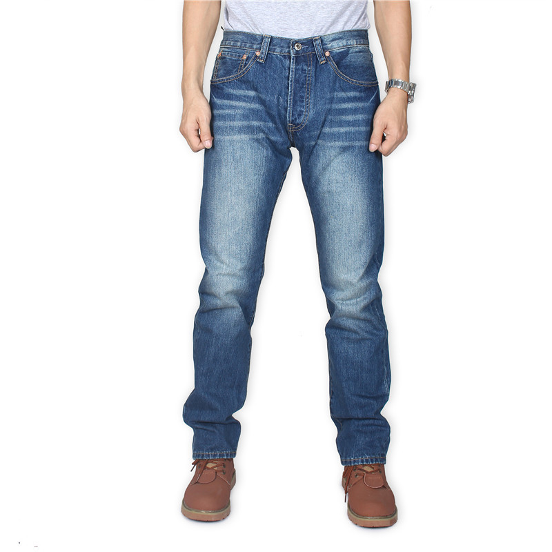 Reeves Jeans Men's 501 Straight-Cut Autumn And Winter New Style 2019 No Bombs Faded Official Genuine Product MEN'S Casual Pants
