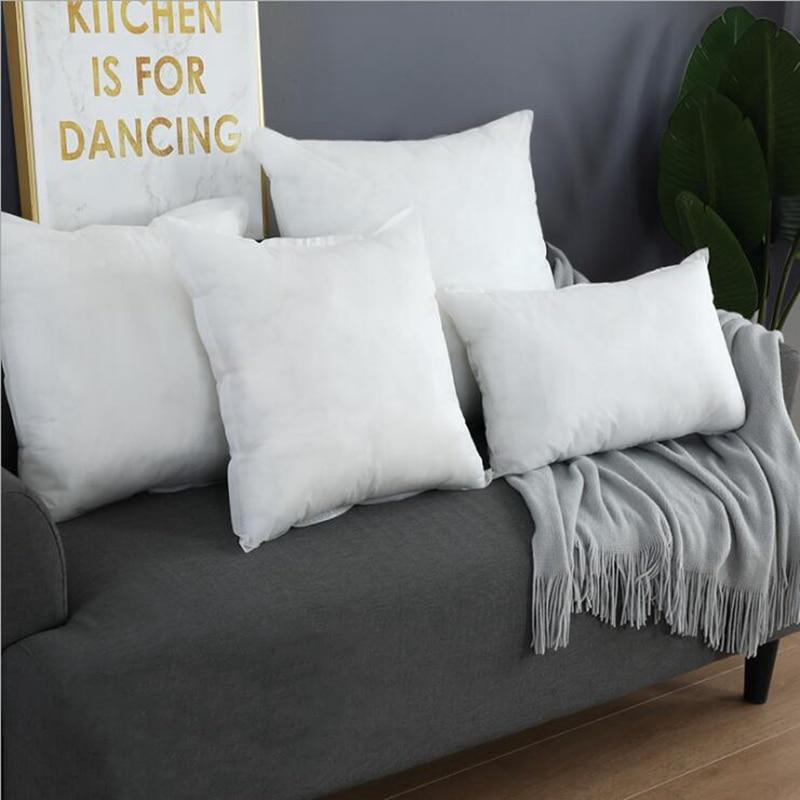 Soft PP Cotton Pillow Cushion Core  Square White Head Pillow Filling Non-woven Health Bedding Interior Home Decor Cushion Pad