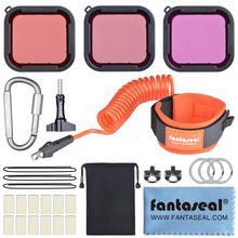 цена на Dive Filter Dive Wrist Strap Kit Red Magenta Color Filter Lens for GoPro Hero 7 6 5 Black Super Suit Housing Case Accessories