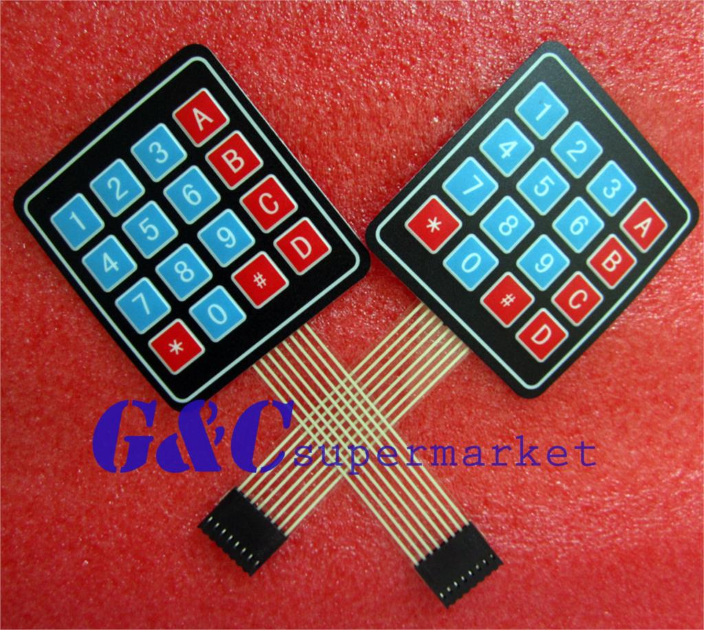 10pcs 4 X 4 Matrix Array 16 Key Membrane Switch Keypad Keyboard Diy Electronics