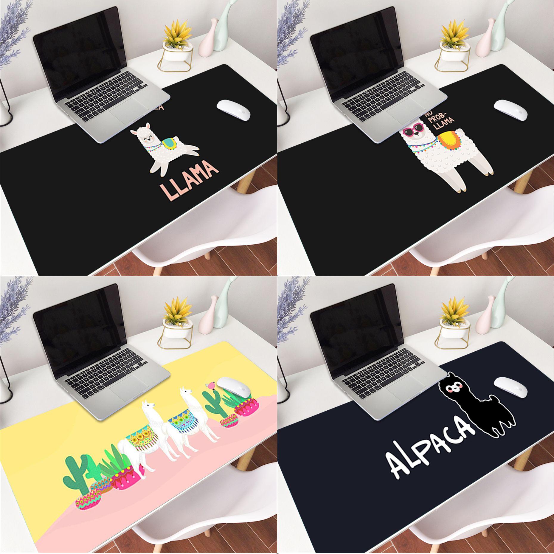 MaiYaCa cute cartoon Lama Llama Alpacas Animal Mousepad Gaming Mouse Pad Large Deak Mat 900x400mm for overwatch/cs go