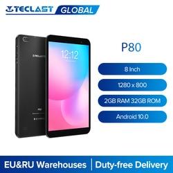 Teclast P80 Android 10 планшет 64 бит процессор 8 дюймов 1280x800 IPS 2 Гб Оперативная память 32GB Встроенная память 4 ядра двухъядерный процессор Wi-Fi Bluetooth 5,0 пл...