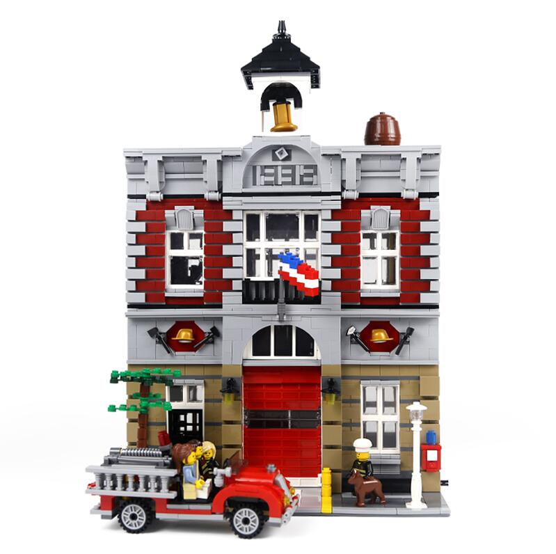 15004 LegoEDS City Street Series Compatible Legoed 10197 Fire Brigade Model Building Block Bricks Kids Assembly House Toys Gifts