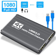 Navceker USB 2,0 HDMI Game Capture Karte 1080P 4K placa de video Zuverlässige streaming Adapter Für Live Sendungen video Aufnahme