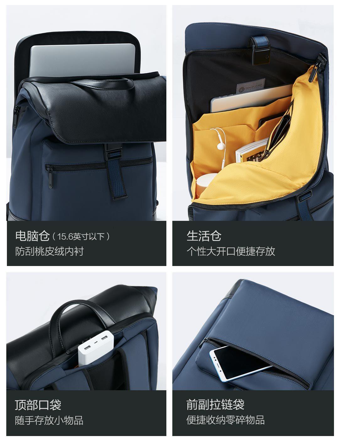 22.5L Xiaomi 90 точек светильник городской Досуг Рюкзак Xiomi сумка рюкзак многогранный светильник для хранения технология магнитная пряжка - 6